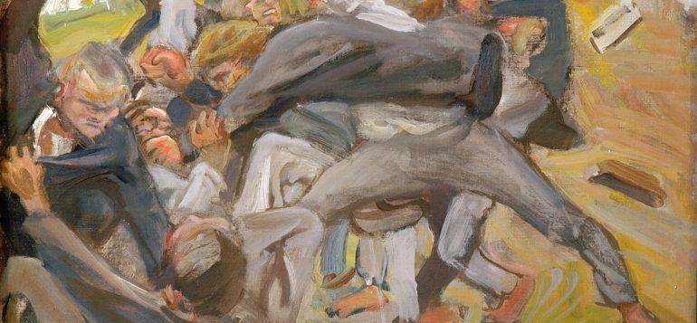 Akseli Gallen-Kallela, Seitsemän veljeksen tappelu Toukolan poikien kanssa (1907)