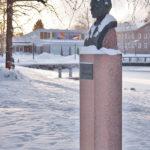 Kuva: Wäinö Aaltonen, Alfred Kordelinin rintakuva, 1919, talvimaisema.