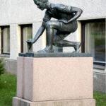 Kuva: Uno Aro, Poika purolla (Tiedon lähteellä), 1952.