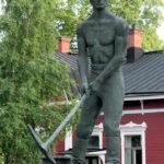 Kuva: Uno Aro, Rauman rautatien muistomerkki, 1962.