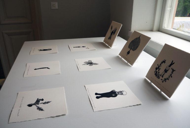 Kirsi Kuusiston grafiikanvedoksia näyttelyssä