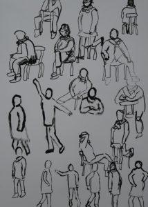 Emmi Lindgren: Elävän mallin piirtämistä